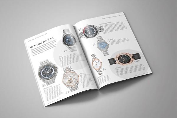 Mẫu in catalogue bán đồng hồ