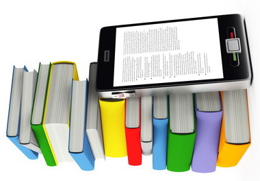 mobile phone and books