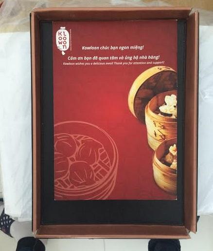 sổ menu nhà hàng hàn quốc