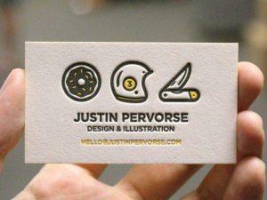 Mẫu in card visit cao cấp dập nổi logo