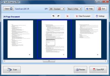 Các bước thực hiện scan tài liệu thành file pdf