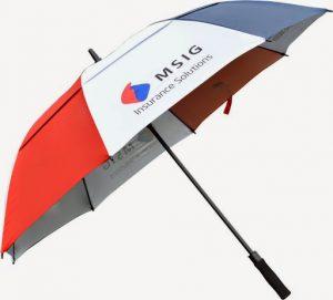 Mẫu in logo lên ô dù