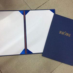 Bìa kẹp chứng chỉ in logo RIORI