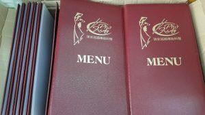 bìa menu nhà hàng phở
