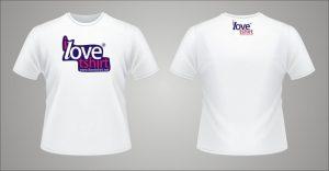 mẫu in logo lên áo love