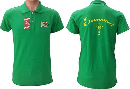 mẫu in logo lên áo phông