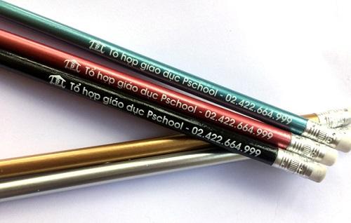 mẫu in logo lên bút chì