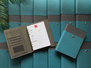Mẫu sổ da bìa còng, sổ tay bìa còng in logo -3