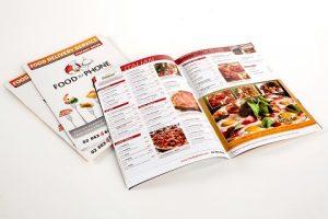 in catalogue nhà hàng food by phone