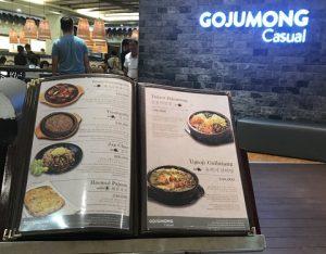 menu nhà hàng gojumong