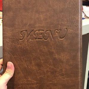 Bìa menu da có sẵn - M1