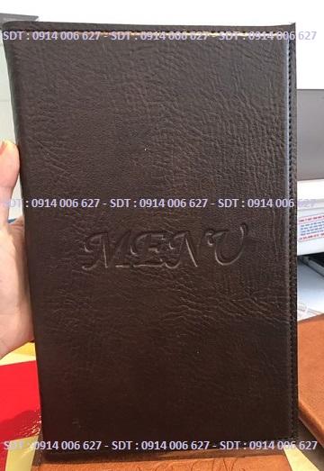 Bìa menu da có sẵn - M2