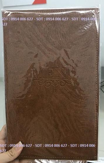 Bìa menu da có sẵn - M5