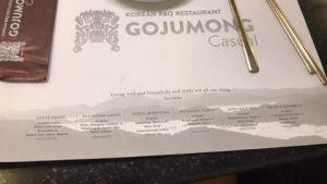 menu nhà hàng gojumong 2