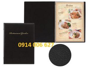 mẫu da sản xuất menu bìa da