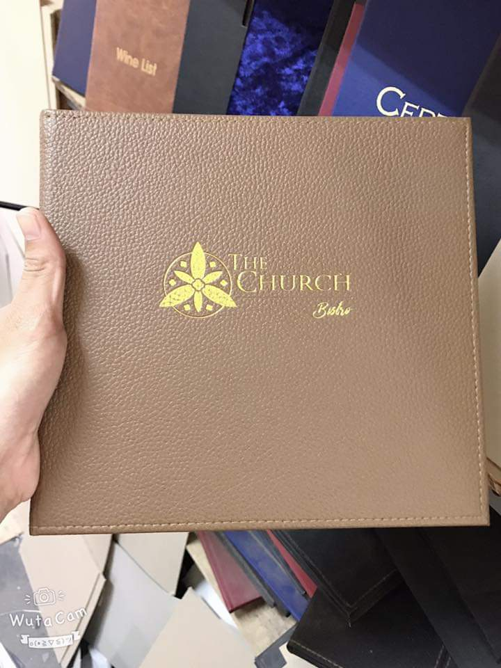 Bìa menu nhà hàng The Church