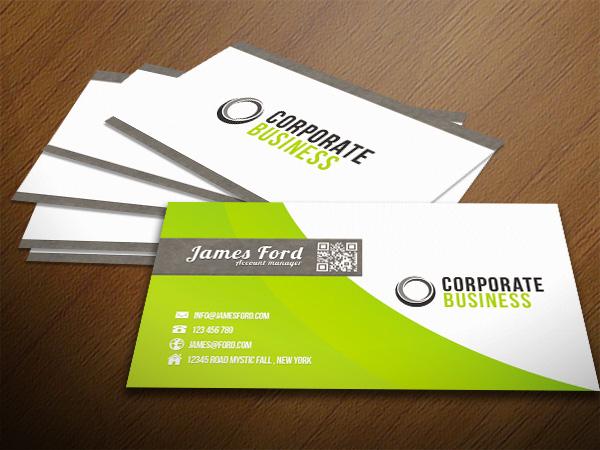 in card visit bằng giấy couche bóng 1