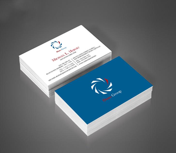 in card visit bằng giấy couche bóng 3
