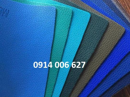 mẫu da simili sản xuất sắc màu