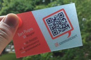 in card visit có mã qr code 1