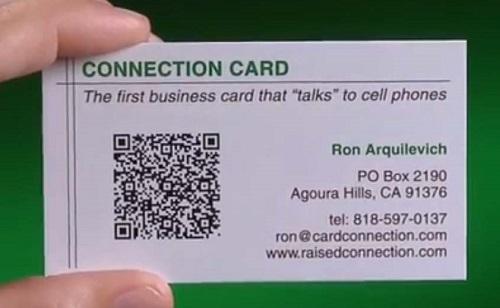 in card visit có mã qr code 2