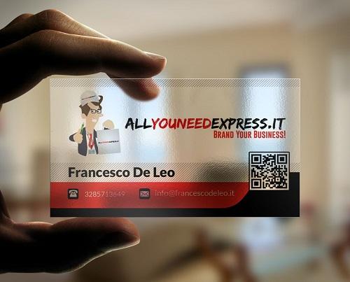 in card visit có mã qr code 3