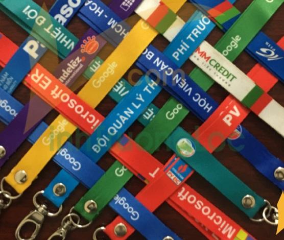 Dây đeo thẻ cao cấp có in logo các loại