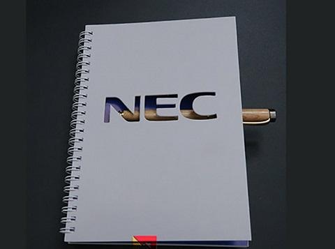 In logo lên sổ tay nec