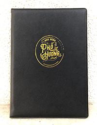Bìa menu da TPHCM - mẫu 1