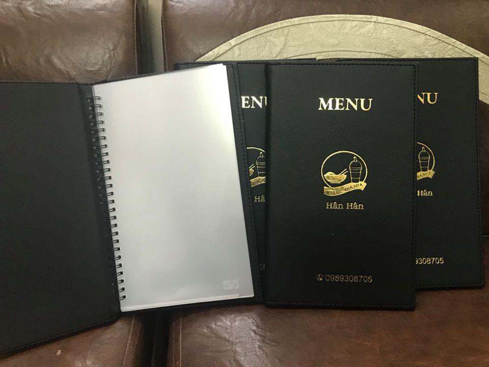 in menu cafe theo yêu cầu