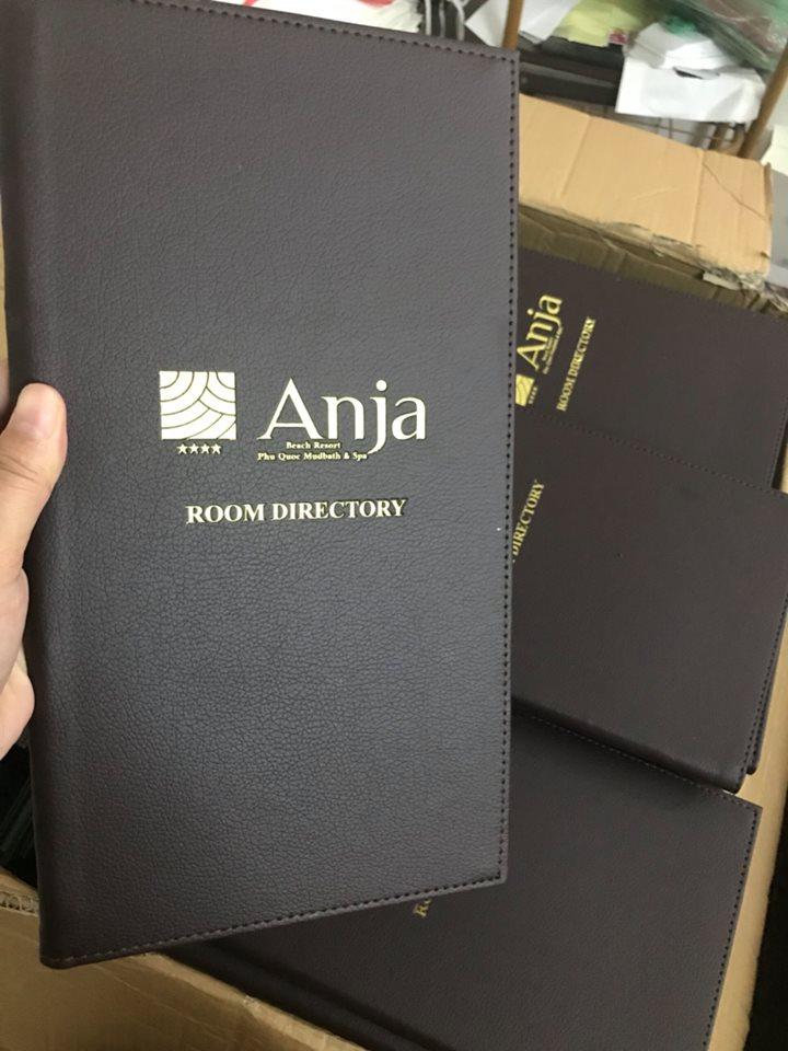 Bìa menu da nhà hàng Anja