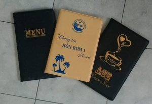 Mẫu in menu bìa da nhà hàng tại tphcm