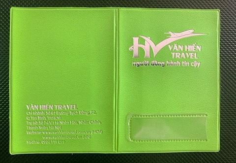 Ví đựng hộ chiếu bằng da công ty văn hiến