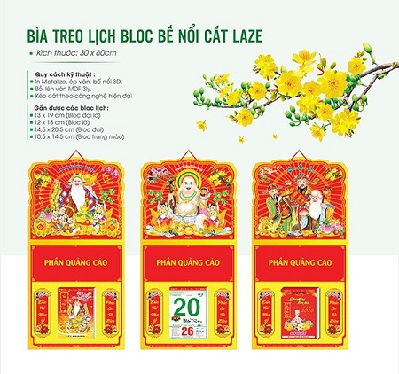 In lịch tết 2020 lịch block