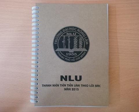 Sổ tay giấy kraft NLU