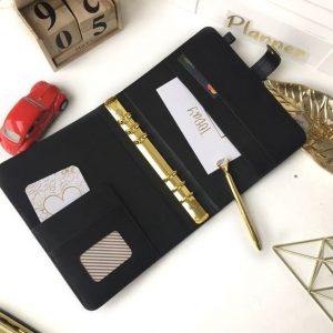 Mẫu sổ da cao cấp mới bìa còng inox mạ vàng