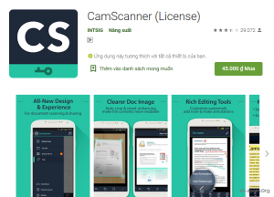 ứng dụng scan tài liệu Camscanner