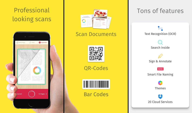 ứng dụng scan tài liệu trên điện thoại Scanbot