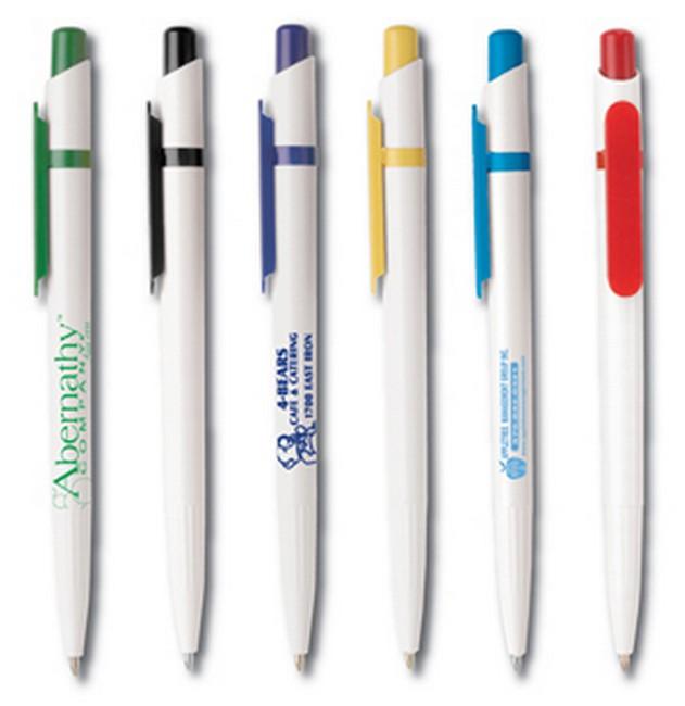 Mẫu in logo lên bút bi nhựa