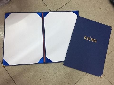 In menu bìa da cài