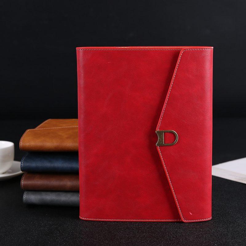 Sổ Da A5 gáy còng - bìa màu đỏ