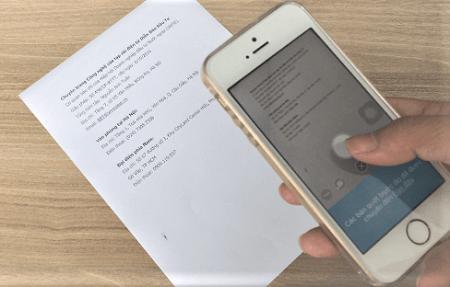 Scan tài liệu bằng điện thoại