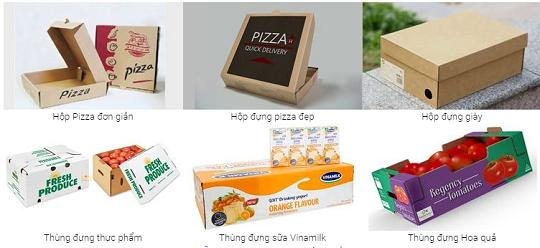 Mẫu hộp carton đựng sản phẩm