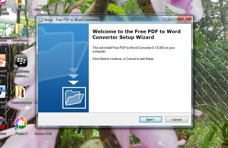 Chuyển pdf sang word bằng Free PDF to Word Converter -b1