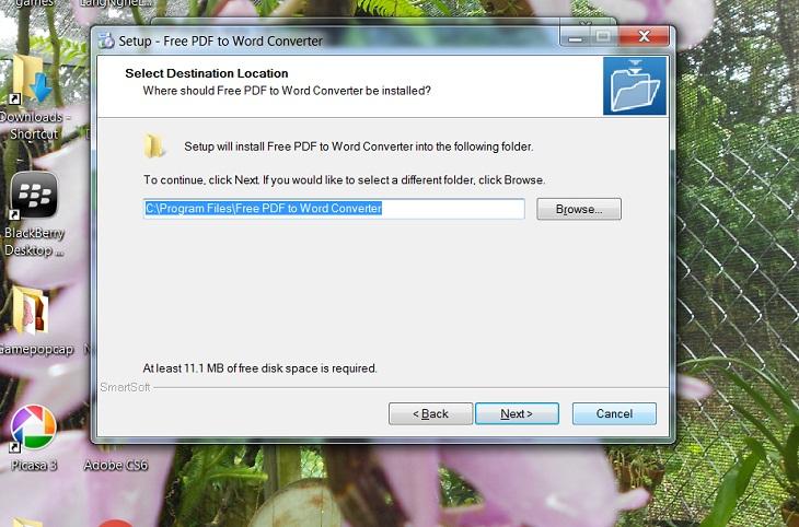 Chuyển pdf sang word bằng Free PDF to Word Converter -b2