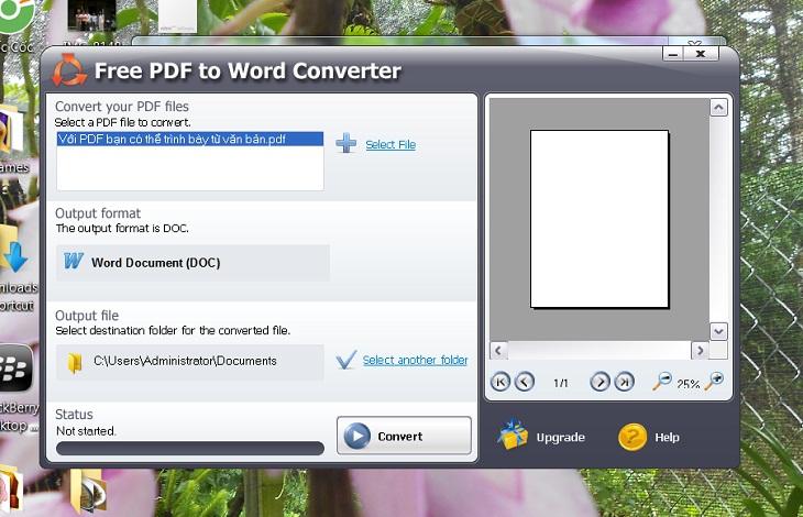 Chuyển pdf sang word bằng Free PDF to Word Converter -b6