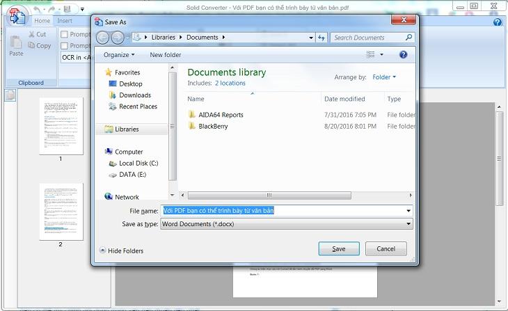Dùng Solid PDF to Word để chuyển PDF sang word - b6