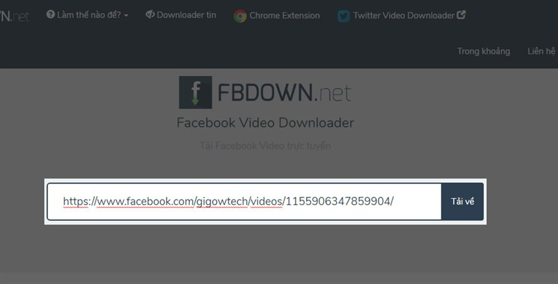cách tải video facebook về máy tính 1