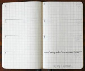 Mẫu weekly layout 2