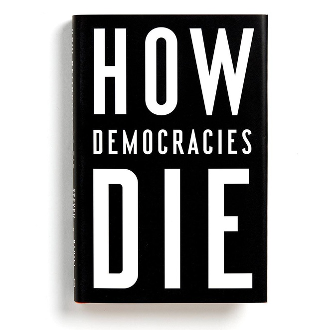 "Bìa sách ""How Democracies DIE"""